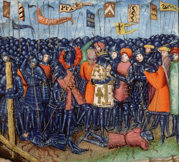 Verbeelding van de Slag bij Hattin in een vijftiende-eeuws manuscript (wiki)
