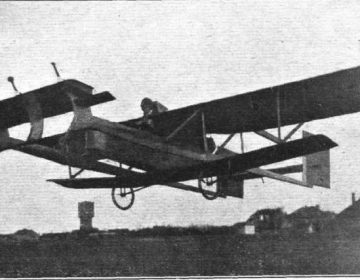 Willekeurige foto van een oud zweefvliegtuig