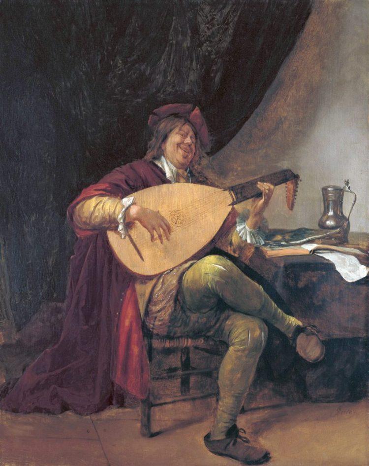 Zelfportret als luitspeler; Museo Thyssen-Bornemisza, Madrid