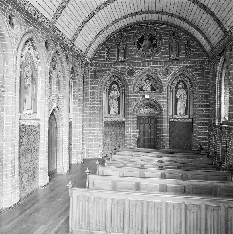 Reconstructie van de Aduard kapel in het Rijksmuseum Amsterdam, gemaakt in 1885. Bron Wikimedia