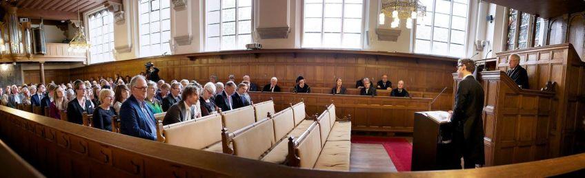 Waling verdedigt zijn proefschrift, Leiden 24 mei 2016. Foto: Geerten Waling