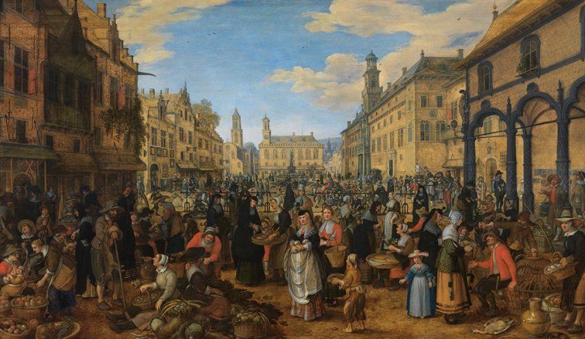 Sebastiaen Vrancx, Markttafereel, ca. 1600 - The Phoebus Foundation