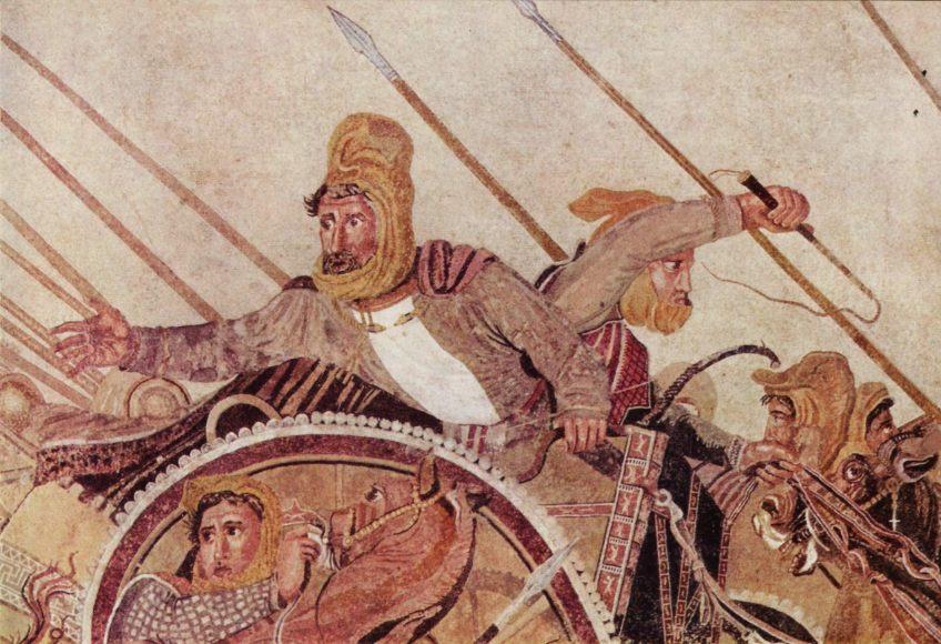 Darius III, detail van het Alexandermozaïek