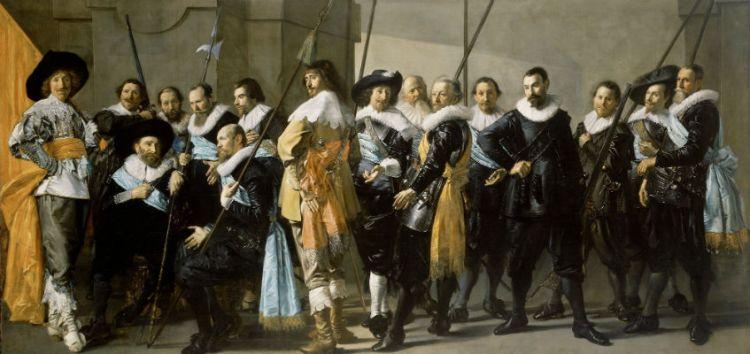 Frans Hals en Pieter Codde. Het korporaalschap van kapitein Reinier Reael en luitenant Cornelis Michielsz. Blaeuw, bekend als 'De magere compagnie'. 1633-1637. Amsterdam, Rijksmuseum Amsterdam.