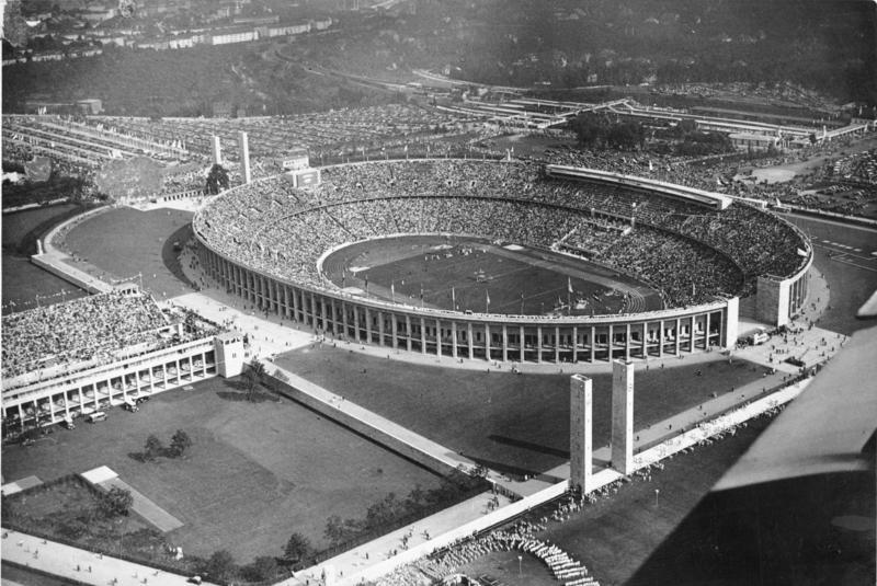 Olympiastadion in 1936 (cc - Bundesarchiv)
