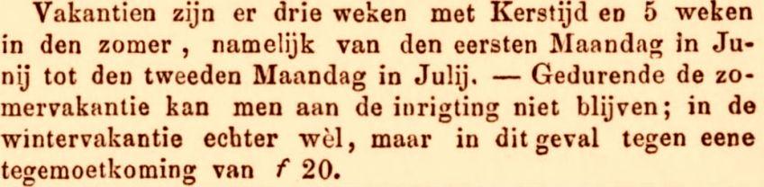 Fragment uit de periodiek De Oostpost (13 februari 1856). Bron: Delpher