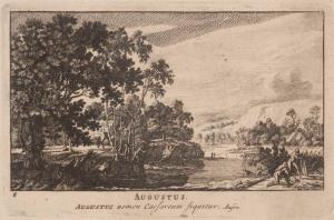 Pieter Schenk (uitgever), Augustus, ets, 1701. Collectie Amsterdam Museum, A 56577
