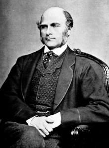 Francis Golton, grondlegger van de moderne eugenetica (1850)