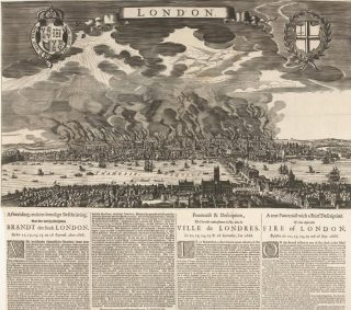 Pamflet uit 1666 over de brand in Londen (Rijksmuseum RP-P-OB-82.017)
