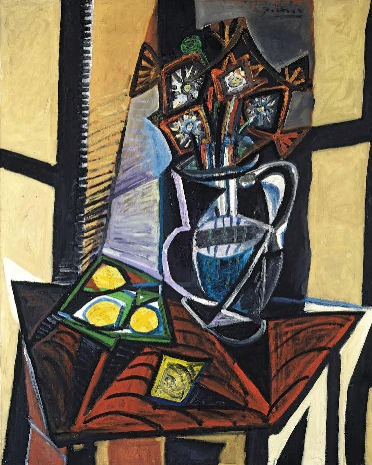 Pablo Picasso, stillleven met bloemen en citroenen uit 1941, E.G. Bührle Collectie