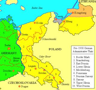 Het nieuwe Polen, na 1945. Bron: cc