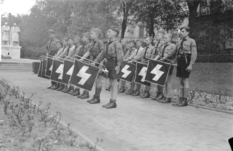 Leden van het fanfarekorps van het Jungvolk, 1933. Beeld: Bundesarchiv