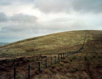 Deel van de grens tussen Engeland en Schotland - cc