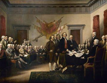 Verbeelding van de ondertekening van de Onafhankelijkheidsverklaring