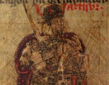 Vijftiende-eeuwse afbeelding van koning Arthur (cc)