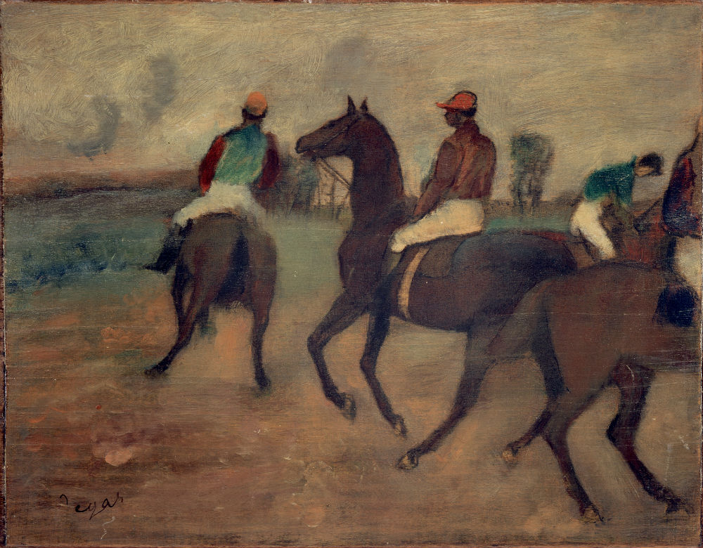 Schilderij met paarden van de hand van Degas, ca. 1888