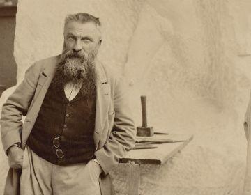 Rodin in zijn atelier (Dornac, 1898)