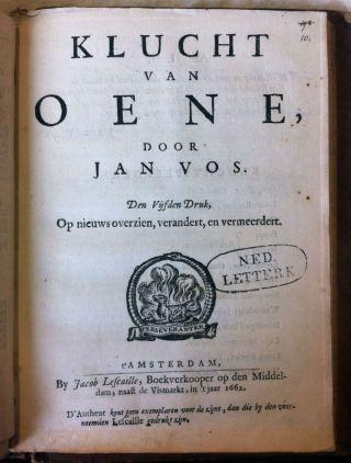 Jan Vos - Klucht van Oene - 1662 (leidenuniv.nl)
