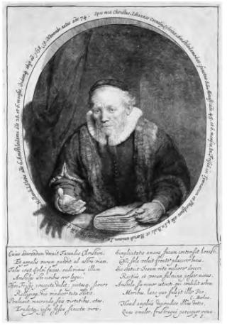 Portret van een predikant, Rembrandt van Rijn, ca. 1646
