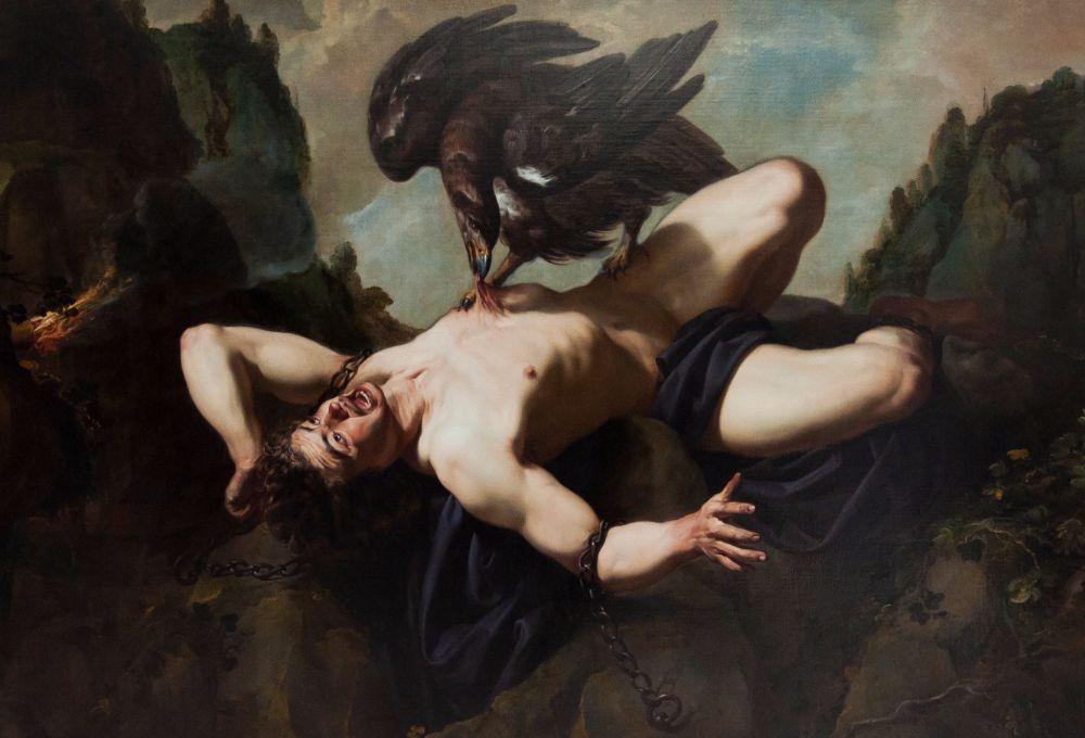 De straf van Prometheus van Theodoor Rombouts in het Koninklijke Musea voor Schone Kunsten van België