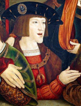 Detail van een portret van de jonge Karel V - Bernard Strigel