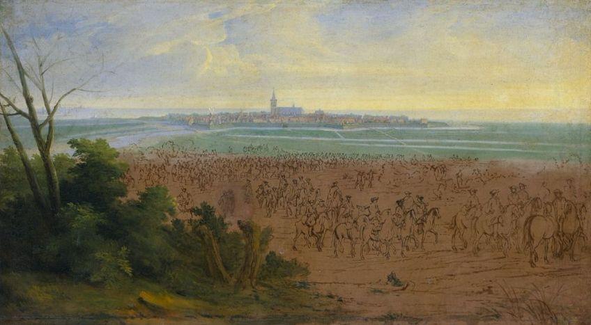 Het Franse leger voor Naarden op 20 juli 1672 door Adam Frans van der Meulen
