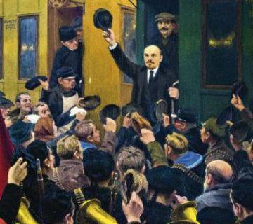 Lenin in de trein