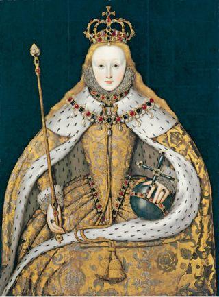 Koningin Elizabeth i, onbekende Engelse kunstenaar, ca. 1600