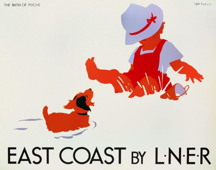 Affiche East Coast, Tom Purvis, ca. 1930