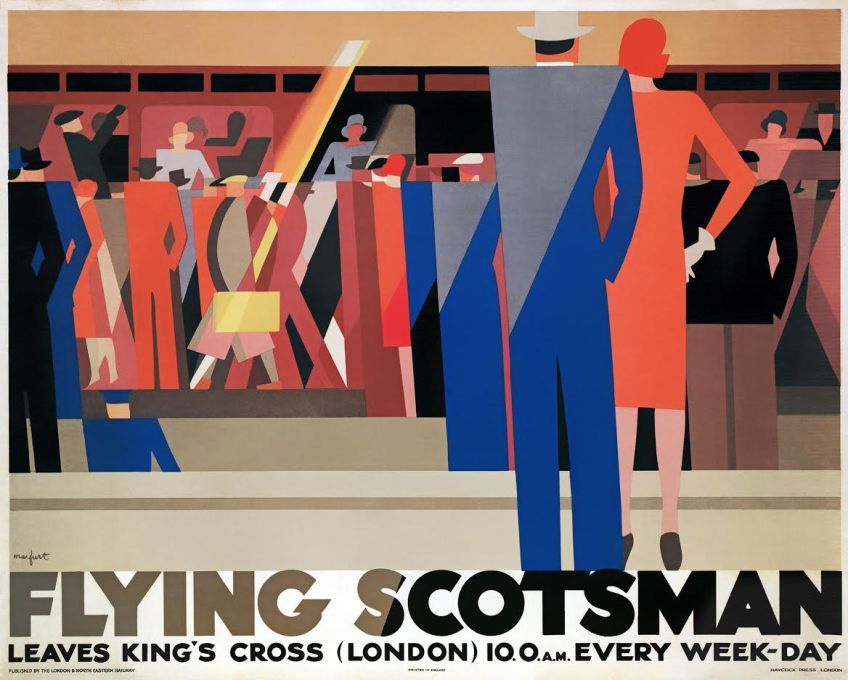 Affiche Flying Scotsman, Leo Marfurt, 1929