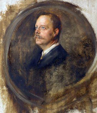 Portretstudie van Chamberlain, gemaakt door Franz von Lenbach