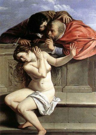 Susanna en de oudsten - Artemisia Gentileschi