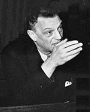 Arthur Seyss-Inquart als aangeklaagde tijdens zijn proces in Neurenberg