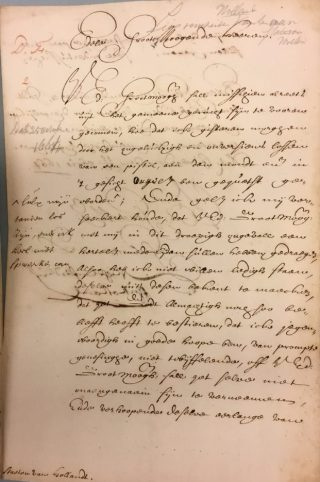Brief van 25 oktober 1664