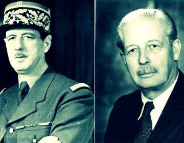 Charles de Gaulle en Harold Macmillan