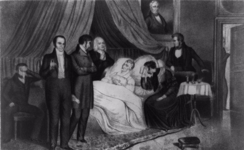 De dood van president William Henry Harrison, 1841