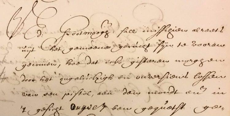 Detail van de brief