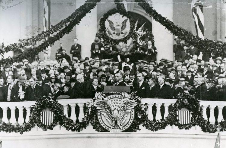 Eerste inauguratie van president Roosevelt, maart 1933