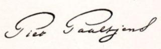 Handtekening van Paaltjens