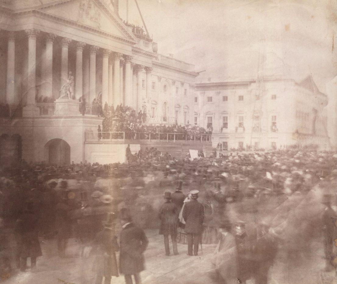 De oudst bekende foto van een presidentiële inauguratie (1857)
