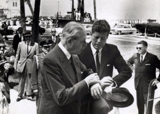 Macmillan and John F. Kennedy in 1961