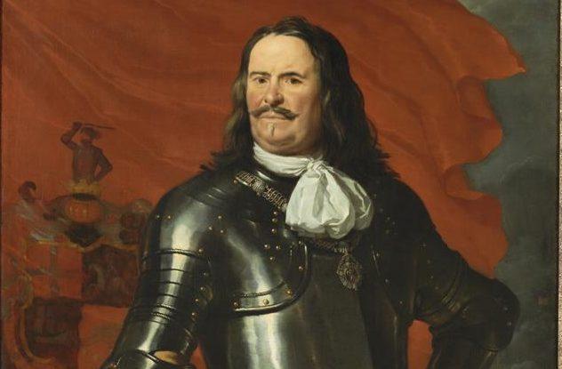 Portret van Michiel Adriaensz. De Ruyter. Gemaakt door Karel Du Jardin in 1669. Te zien in de tentoonstelling De Gouden Eeuw in Het Scheepvaartmuseum.
