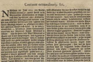 Een nieuwsbericht over de Nederlandse oorlogsvloot die ingezet werd in Brazilië, Courante extraordinarij, 27 augustus 1624