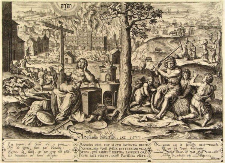 Allegorie over de Spaanse furie. Hans Collaert, 1577, Museum Boijmans Van Beuningen