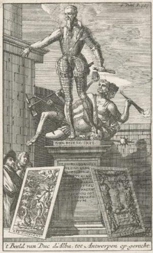 Standbeeld van Alva in de Citadel (door Jacob Jonghelinck)