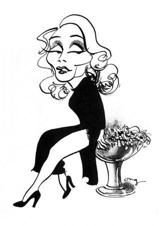 Marlène Dietrich en haar salade - © Henk Boudewijns - Illustratie Guus Ong