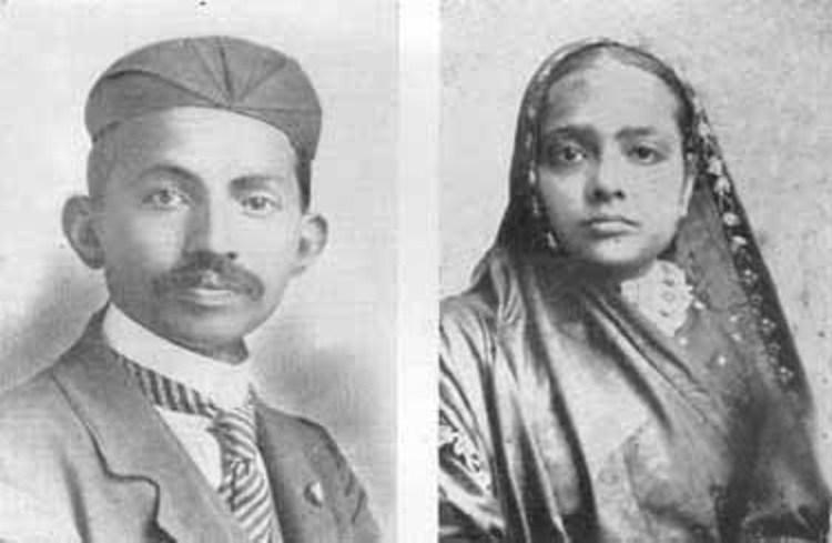 Gandhi en zijn vrouw Kasturba (1902)