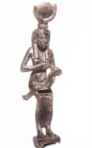 Isis met Horus. Egypte, ca. 700-300 voor Chr. Leiden, Rijksmuseum van Oudheden, CI 74