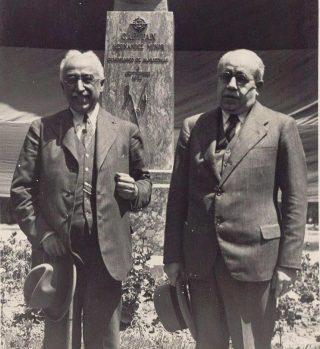Niceto Alcalá Zamora (l) en Manuel Azaña