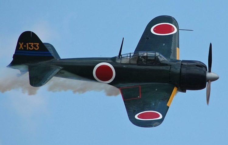 Replica van de Mitsubishi A6M Zero - cc